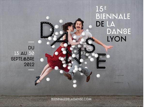 10/12- A poster for the Lyon Dance Biennale from Les graphiquants.