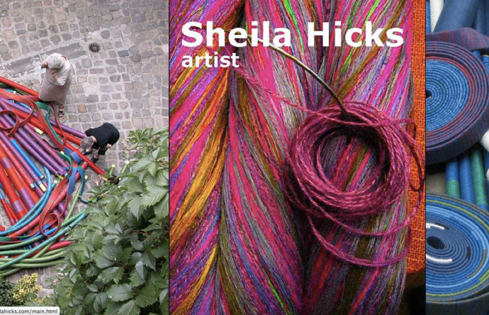 11/12- Sheila Hicks website shows works large and small, spanning five decades