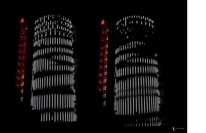5/6 - Silvery reflections on the facade of the Sparkasse Tower in Pforzheim, Germany, 2005