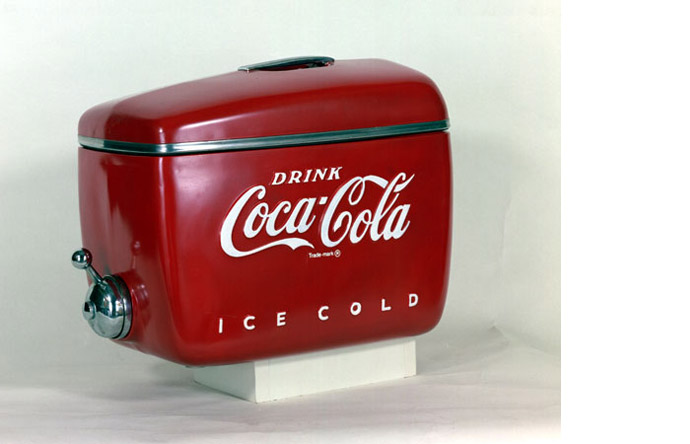 9/9 - This soda dispenser, 1947, is one of the many accessories Loewy designed for Coca-Cola