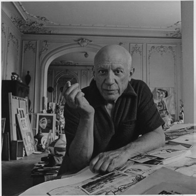 1/12 - Pablo Picasso, Cannes, France, 1956