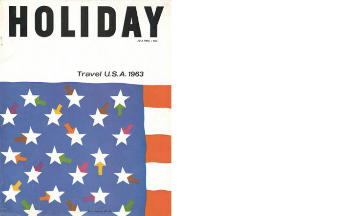 4/12 - Cover of Holiday by Rudolph de Harak, July 1963