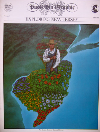 2/8 -Exploring New Jersey, by Richard Mantel, Push Pin Graphic, April 1978