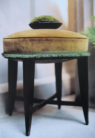 1/9 - A footstool hedged with moss fringe, 2000