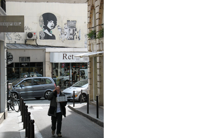 3/12 - Angela Davis shows up near Saint-Germain-des-près