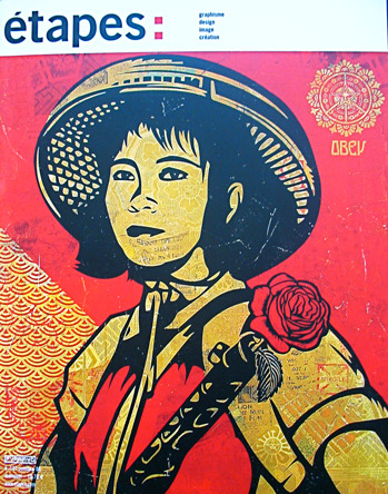 1/8 -  Revolutionary Girl par Shepard Fairey, courtesy Galerie Magda Danysz
