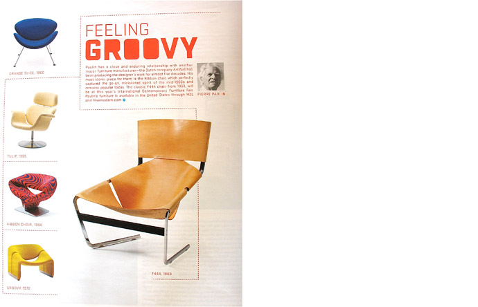 6/6 - Paulin had a close relationship with Artifort. Most iconic is his Ribbon Chair, 1966