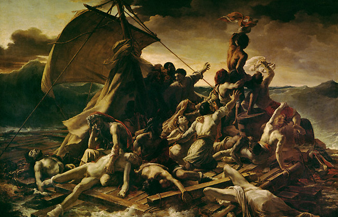 1/1 - The Raft of the Medusa by Théodore Géricault depicts a real-life naval tragedy, 1818