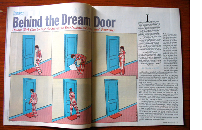 12/12 - Behind the Dream Door, illustrated by Guy Billout, November 1985