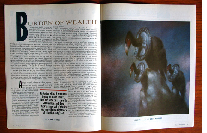 8/12 - Burden of Wealth, illustrated by Brad Holland, May 1986