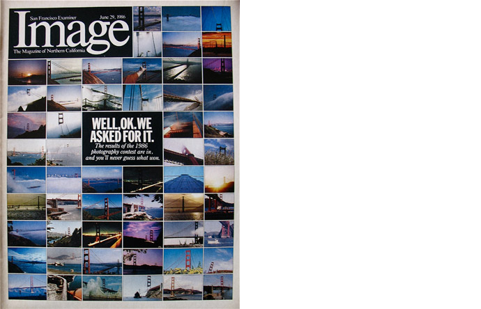 2/12 - Image, the Sunday Magazine of the San Francisco Examiner, art directed by VV