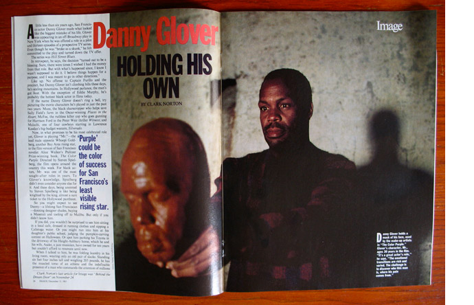 6/12 - Soon to be famous: Danny Glover photographed by Stanley Greene, December 1985