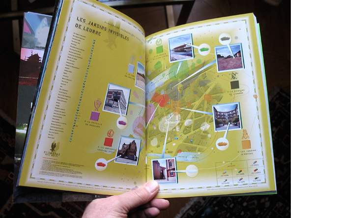11/12 - Map of  Les jardins invisibles de Leurre art project