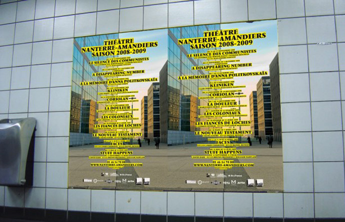 5/12 - Posters from the 2008-2009 season for the Théâtre Nanterre-Amandiers