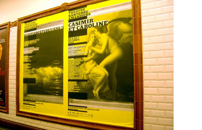 6/12 - Posters for the 2009-2010 season for the Théâtre Nanterre-Amandiers (Béjean-Ledoux)